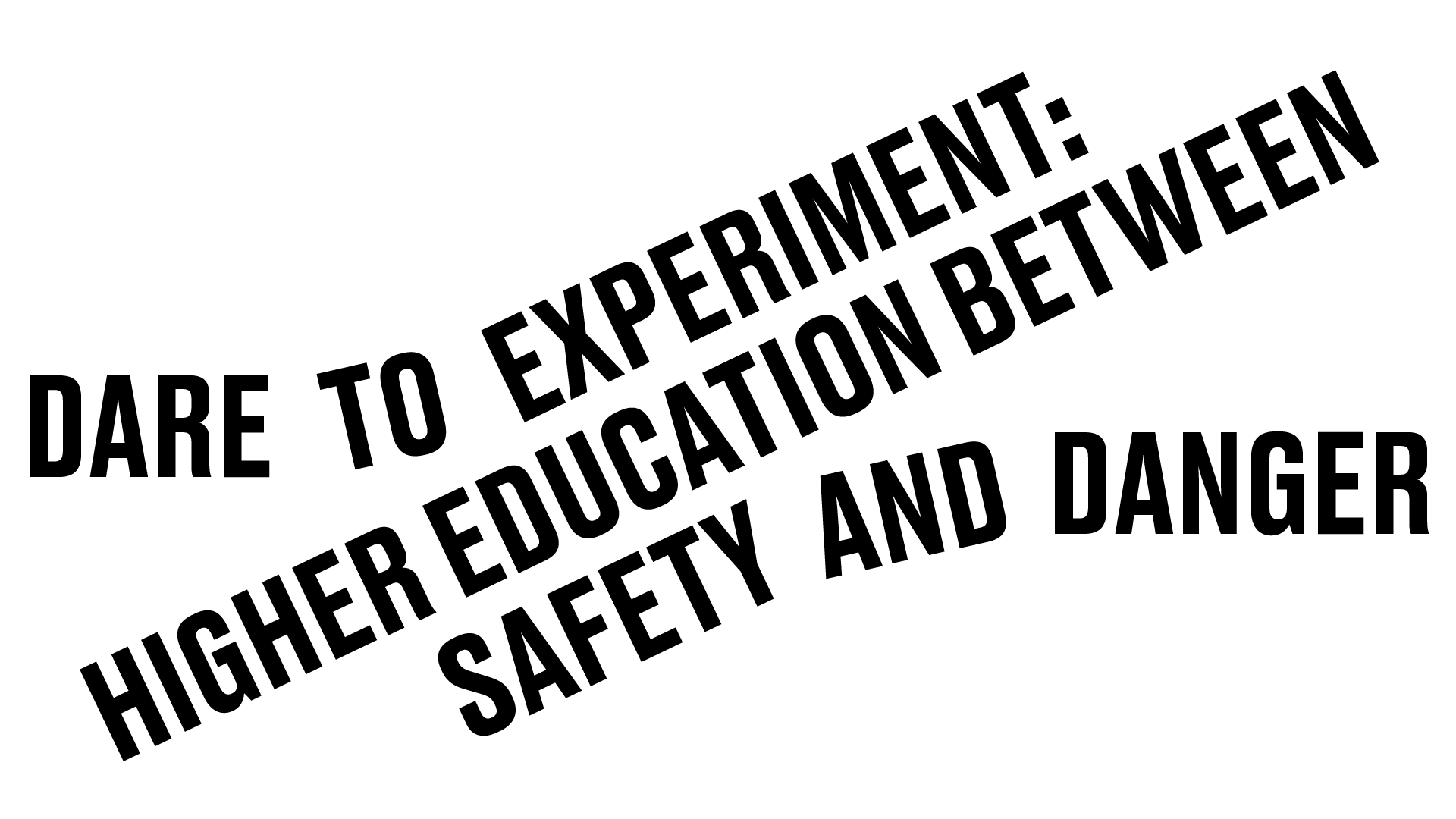 Dare to Experiment: Higher Education between Safety and Danger